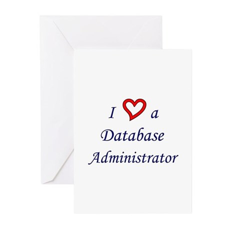 """""""I Love a DBA"""" Greeting Cards (Pk of 10)"""