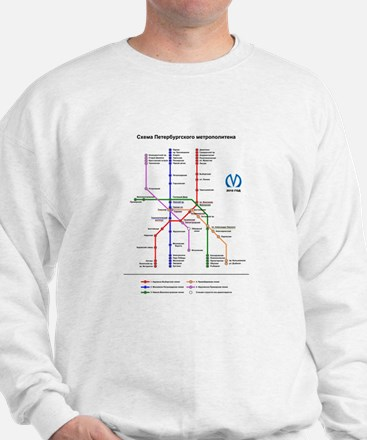 St Petersburg Subway Map Sweatshirt