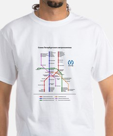 St Petersburg Subway Map Shirt