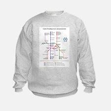St Petersburg Subway Map Sweatshirt
