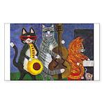Jazz Cats Sticker (Rectangle)