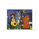 Jazz Cats Mini Poster Print