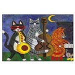 Jazz Cats Large Poster