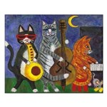Jazz Cats Small Poster
