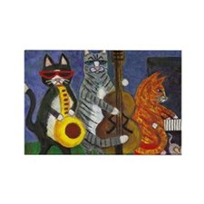 Jazz Cats Rectangle Magnet (10 pack)