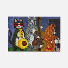Jazz Cats Rectangle Magnet