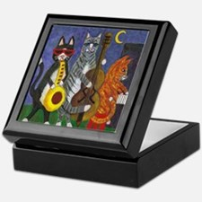 Jazz Cats Keepsake Box