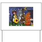 Jazz Cats Yard Sign