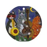 Jazz Cats Ornament (Round)