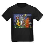Jazz Cats Kids Dark T-Shirt