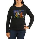 Jazz Cats Women's Long Sleeve Dark T-Shirt