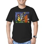 Jazz Cats Men's Fitted T-Shirt (dark)