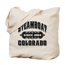 Steamboat Since 1884 Black Tote Bag