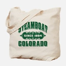 Steamboat Since 1884 Green Tote Bag