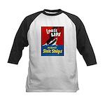 Loose Lips Sink Ships Kids Baseball Jersey