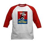 Loose Lips Sink Ships (Front) Kids Baseball Jersey