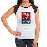 Loose Lips Sink Ships (Front) Women's Cap Sleeve T