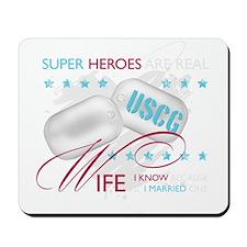 Super Heroes - USCG Wife Mousepad