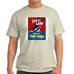 Loose Lips Sink Ships (Front) Ash Grey T-Shirt
