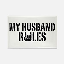 My Husband Rules Rectangle Magnet