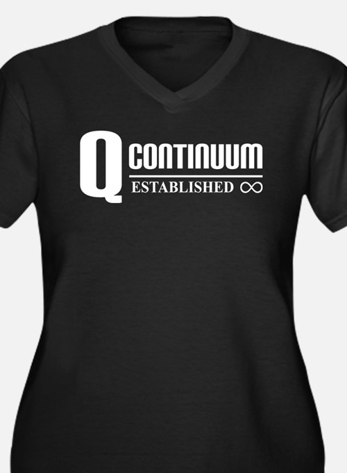 Star Trek Q Continuum Women's Plus Size V-Neck Dar