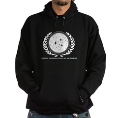 Federation Seal (mono) Hoodie (dark)