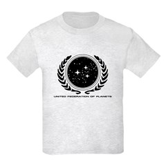 Federation Seal (mono) Kids Light T-Shirt