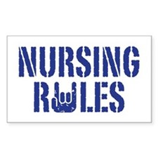 Nursing Rules Decal