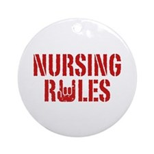 Nursing Rules Ornament (Round)