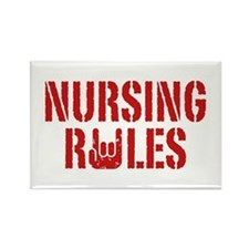 Nursing Rules Rectangle Magnet