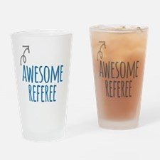Awesome referee Drinking Glass
