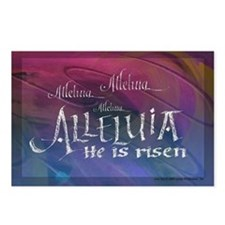 Alleluia calligraphy Postcards (Package of 8)