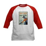 Get Hot Keep Moving (Front) Kids Baseball Jersey
