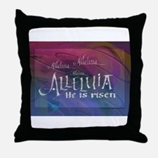 Allelluia calligraphy Throw Pillow