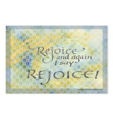 Rejoice calligraphy Postcards (Package of 8)