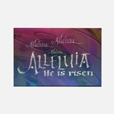 Alleluia calligraphy Rectangle Magnet