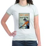 Get Hot Keep Moving Jr. Ringer T-Shirt