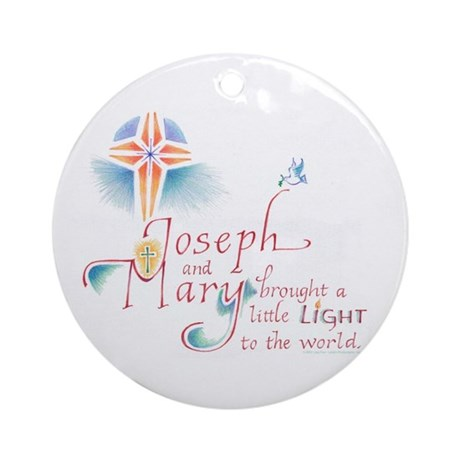 Joseph & Mary Ornament (Round)