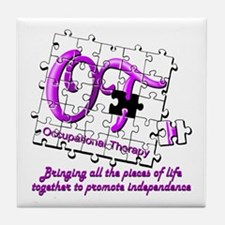 Cute Occupational therapy Tile Coaster