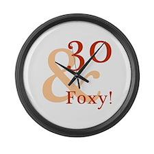 Foxy 30th Birthday Large Wall Clock