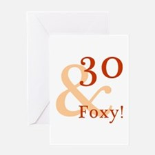Foxy 30th Birthday Greeting Card