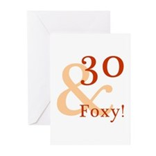 Foxy 30th Birthday Greeting Cards (Pk of 20)