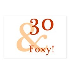 Foxy 30th Birthday Postcards (Package of 8)