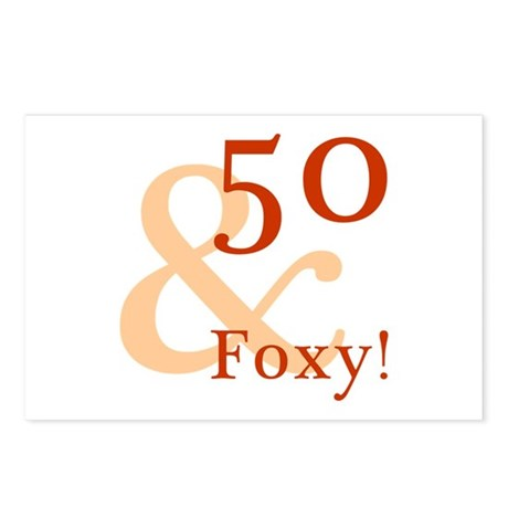 Foxy 50th Birthday Postcards (Package of 8)