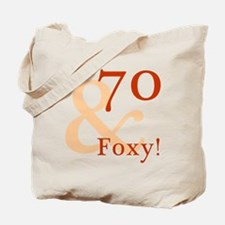 Foxy 70th Birthday Tote Bag