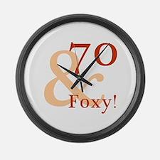Foxy 70th Birthday Large Wall Clock