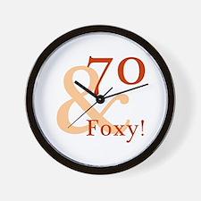 Foxy 70th Birthday Wall Clock