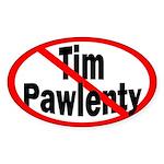 Oval Anti-Pawlenty Bumper Sticker