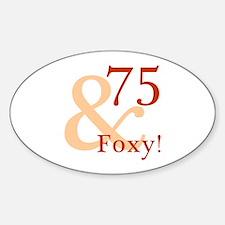 Foxy 75th Birthday Decal