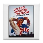 Defend American Freedom Tile Coaster